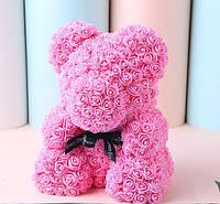 Мишка из Роз 3D 40 см Original Розовый