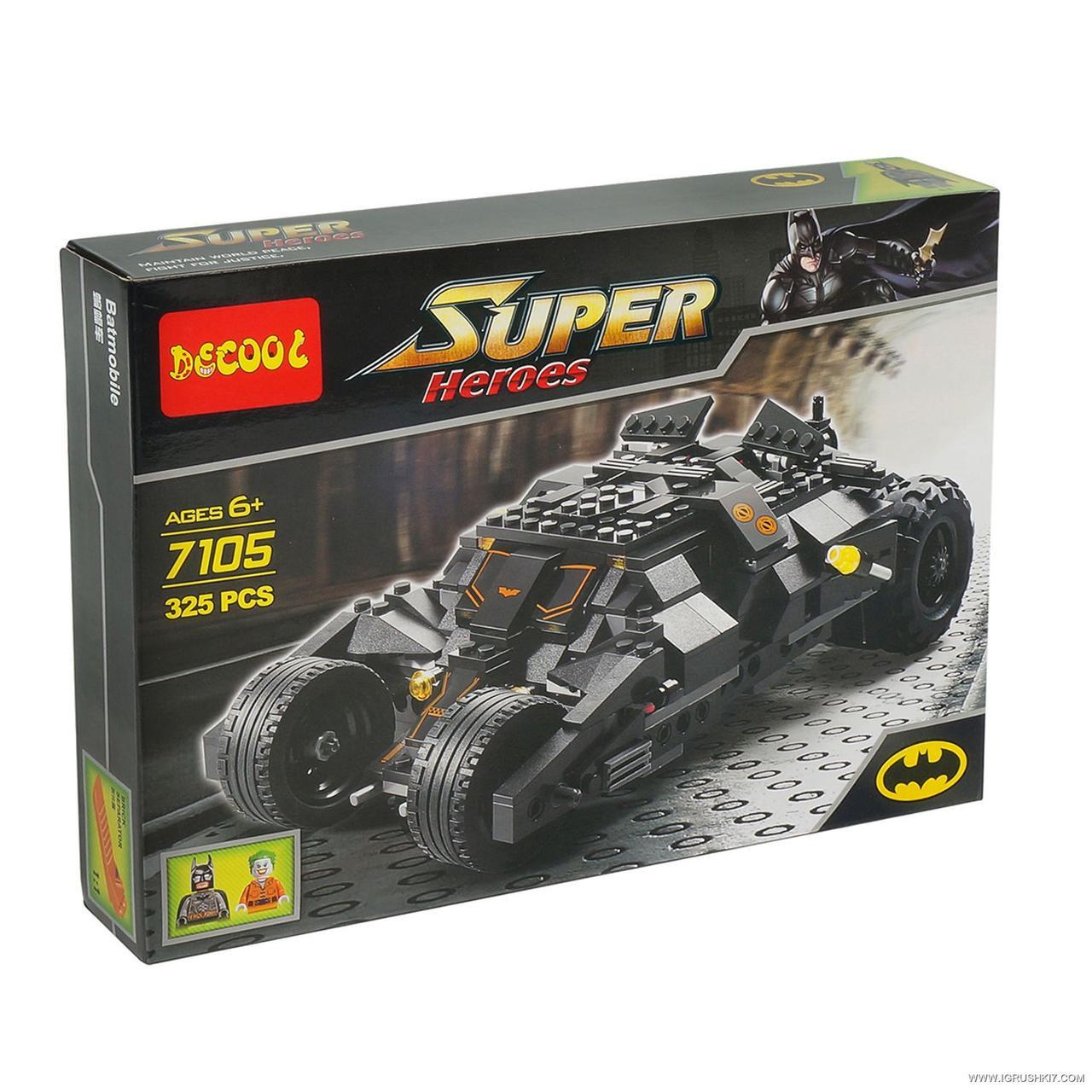 """Конструктор Decool 7105 """"Batman Tumbler""""  325 деталей"""