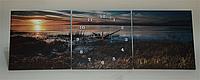Картина часы триптих настенные, кварцевые