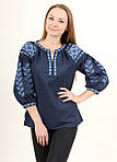 Современная блуза вышиванка с вышивкой крестиком, фото 2