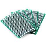 Монтажная двухсторонняя макетная плата PCB 5x7 см, фото 2
