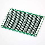 Монтажная двухсторонняя макетная плата PCB 5x7 см, фото 3