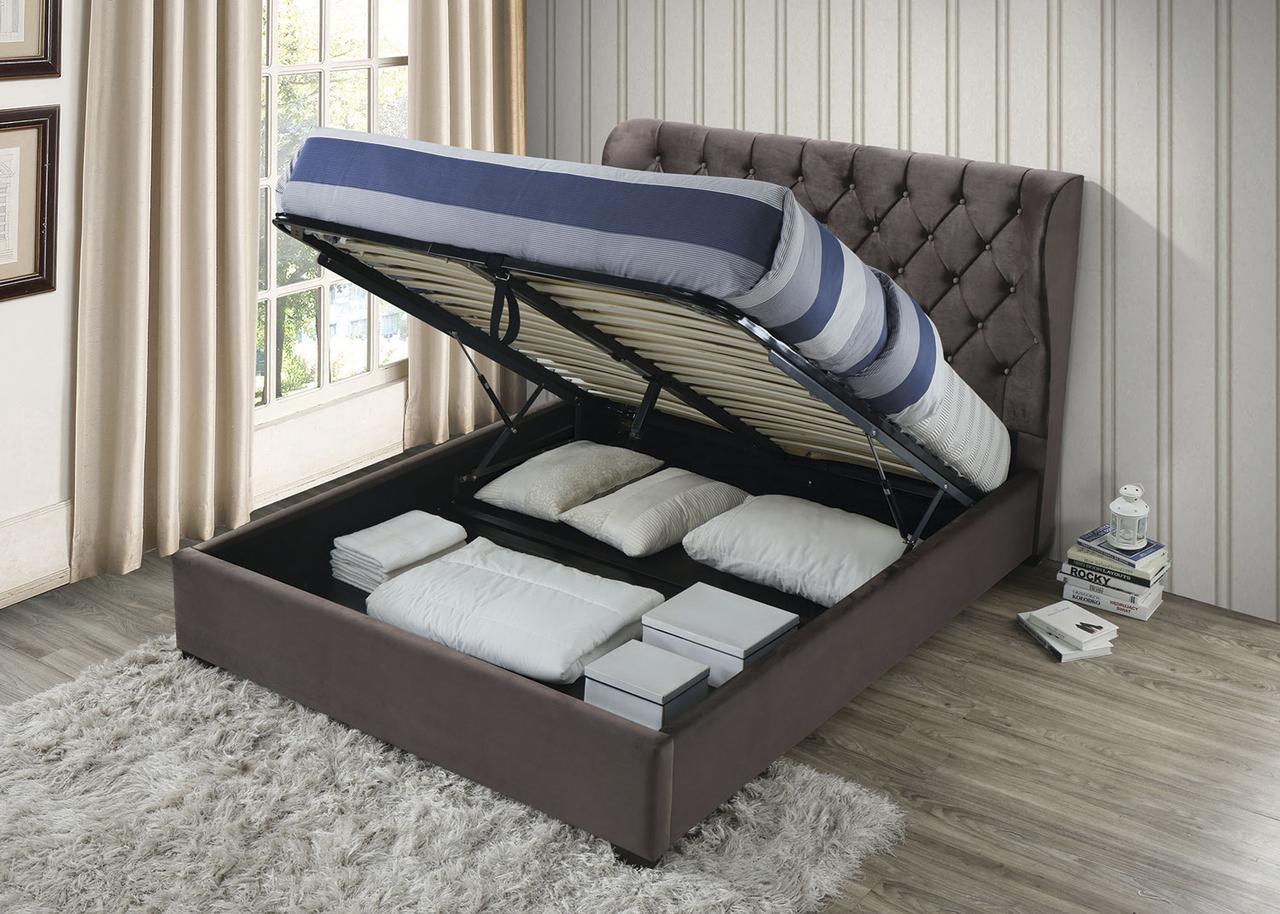 Кровать Империя, 1600х2000 , с подъемным механизмом, темный мокко