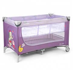 Манеж-кровать Carrello Piccolo+ CRL-9201 Фиолетовый 10-17-9201, КОД: 286659