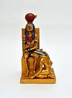 """Статуэтка Бог Ра на троне  """" Древний Египет """""""
