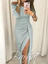 """Вечірнє плаття з розрізом """"Medea"""" - люрекс, фото 3"""