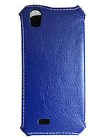Чехол Status Book для Sony Xperia E4 E2115 Dark Blue