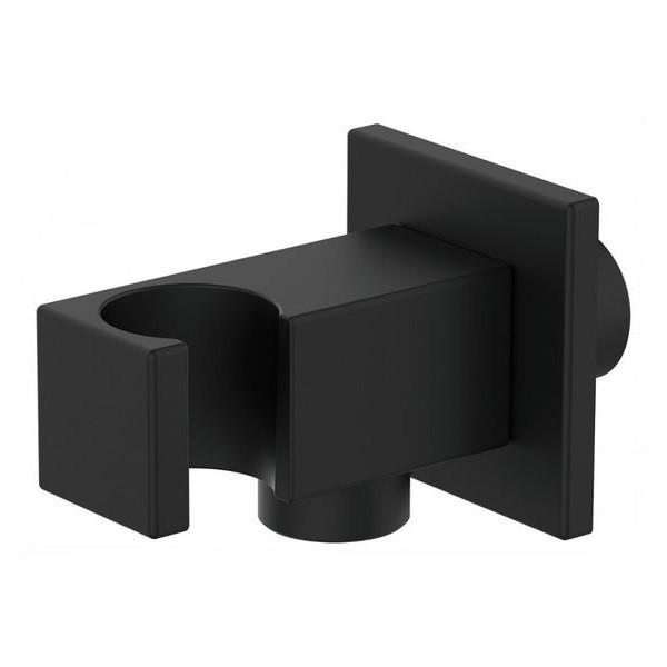 Вывод с держателем для ручного душа GRB Hydro Black 05006701