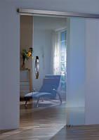 Дверь стеклянная раздвижная