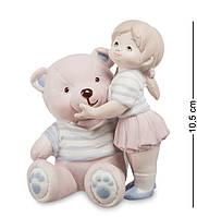 Фигурка Pavone Девочка с мишкой 10.5 см , фото 1
