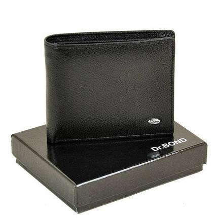 Чоловічий гаманець з затиском з натуральної шкіри Dr. Bond Classic. Шкіряний гаманець - затискач. Чорний і коричневий., фото 2