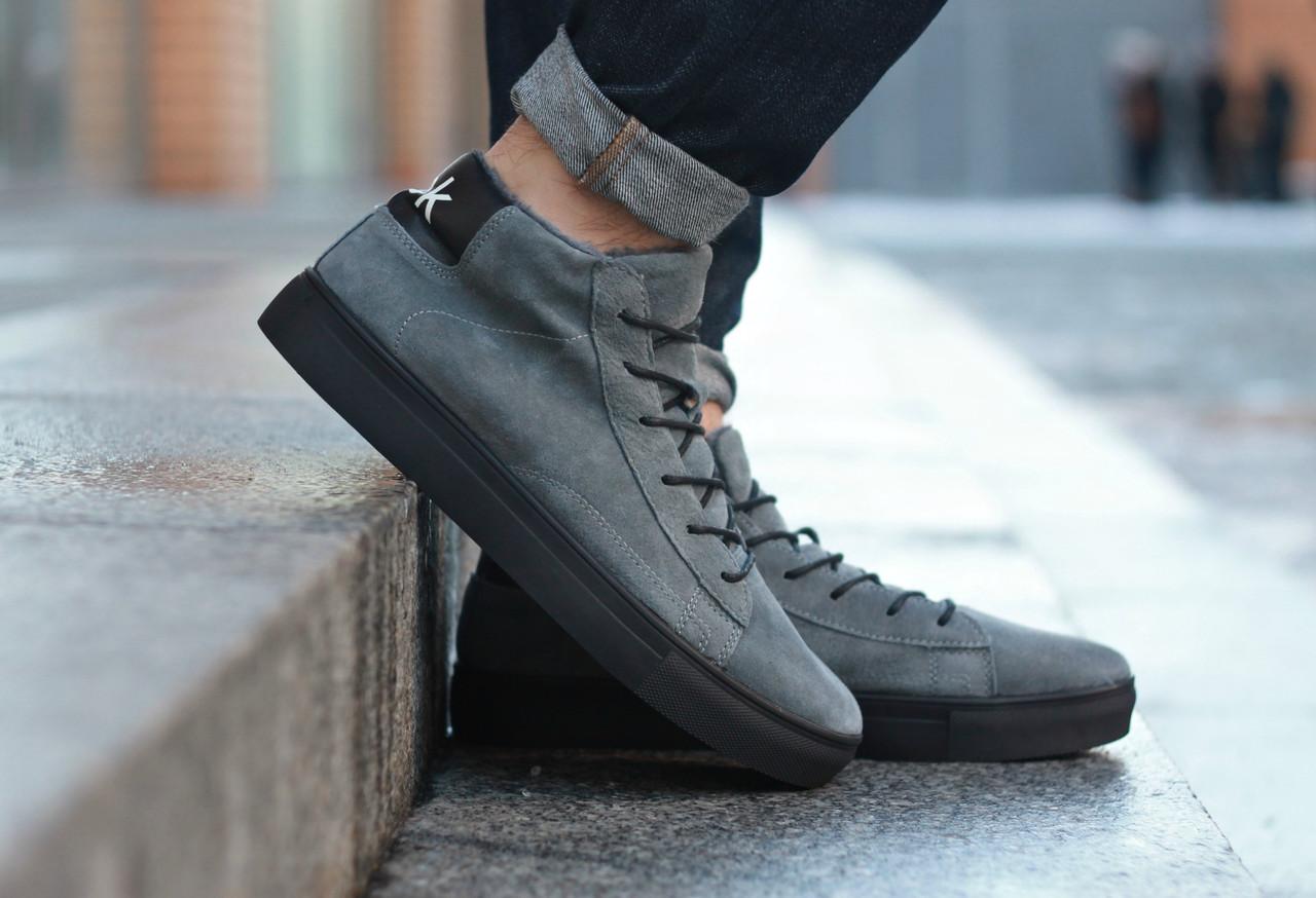 Зимние ботинки, кроссовки на меху Look Force (Серые)