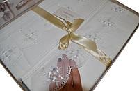 Сатиновое постельное белье с кружевом, фото 1