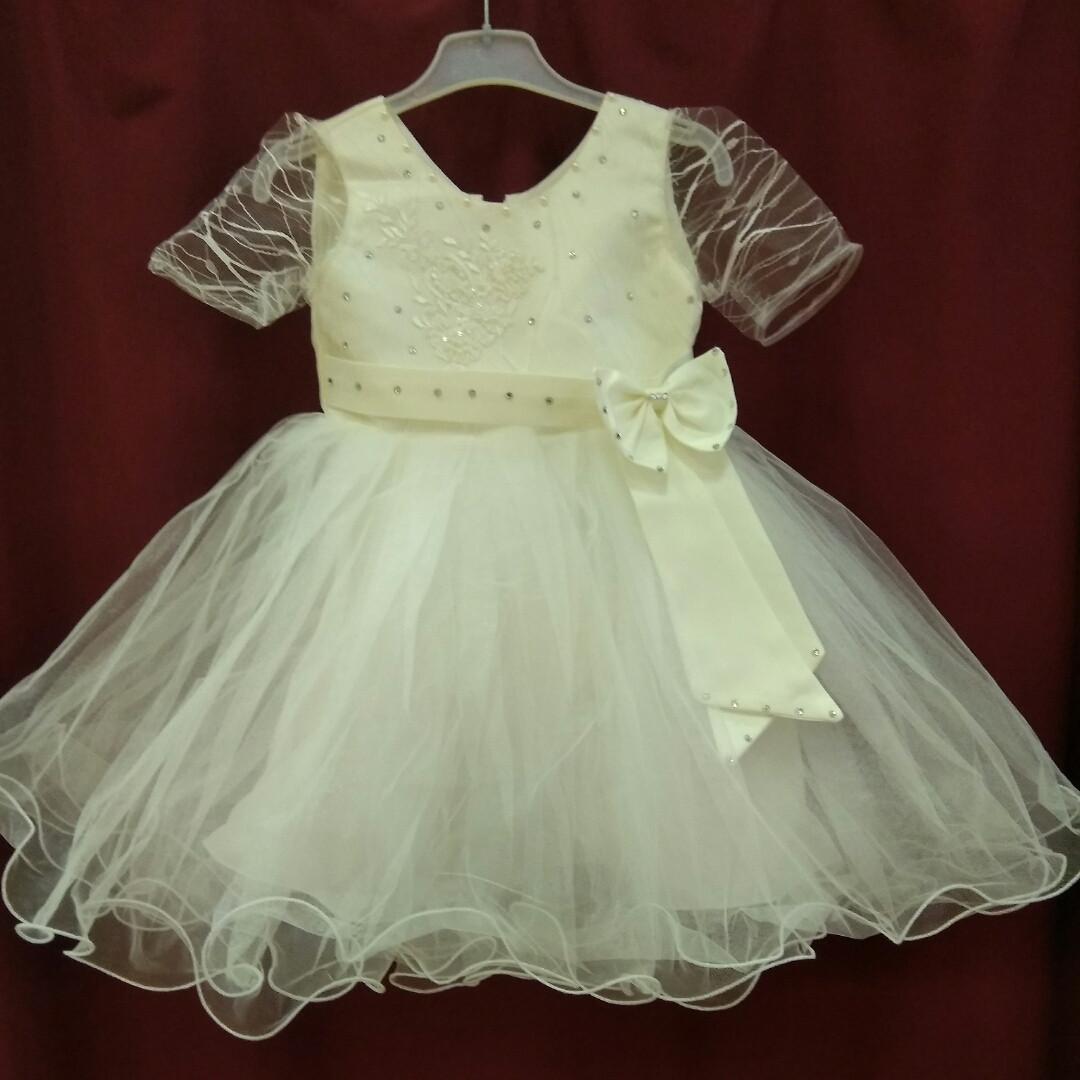 ae9e64e8afb Белое (молочное) платье детское