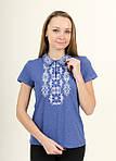 Молодежная современная вышитая футболка женская, фото 3