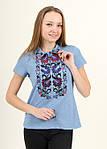 Красивая молодежная вышиванка женская из качественного трикотажа, фото 2