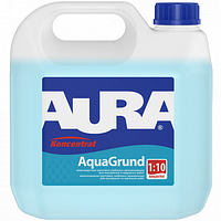 Влагозащитный грунт глубокого проникновения Aura Aquagrund концентрат 1:10 10л
