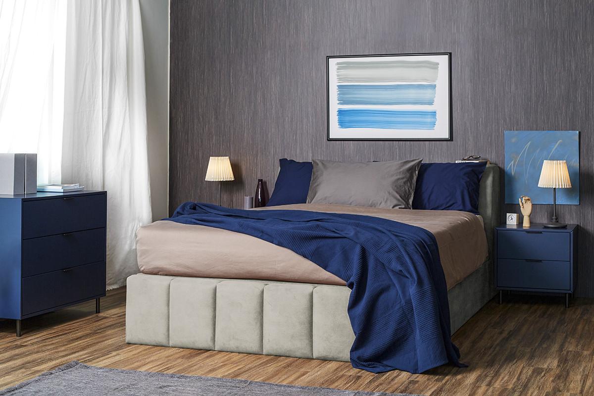 Кровать Мальта, 1600х2000 , с подъемным механизмом, платинум