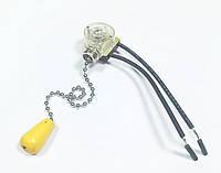 Выключатель для бра с цепочкой золото короткая 10см