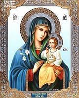 Алмазная вишивка Ікона Божої Матері 34 х 24 см (арт. PR831) частичная выкладка