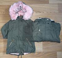 Куртка утепленная для девочек, Nature, 6/7 лет,  № RSG-4868