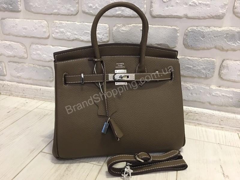bc922b46aa51 Стильная женская (сумка ) сумочка Hermes Birkin 30 см в люкс качестве  натуральная кожа 1786 ...