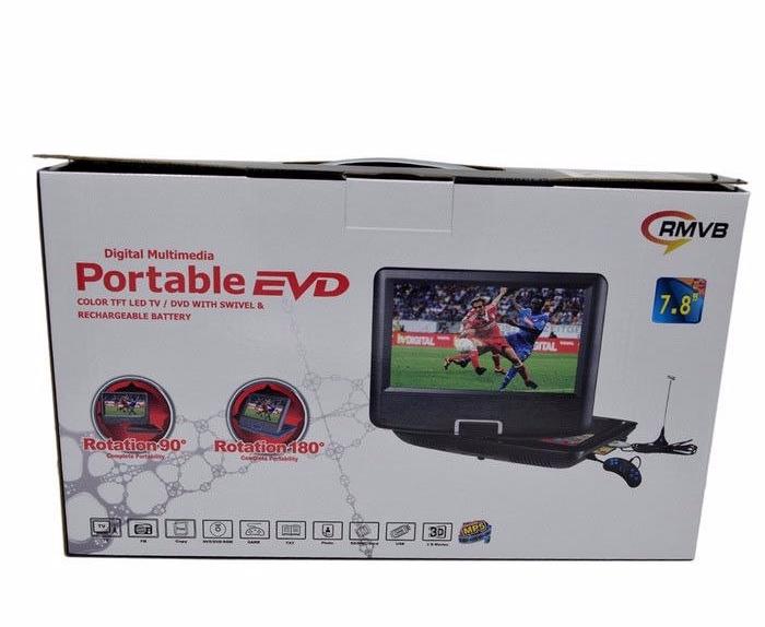 Портативный аккумуляторный мультимедийный DVD-плеер с SD PDVD NS-758, портативный dvd проигрыватель 7 дюймов PR5