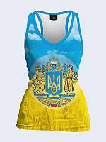 """Женская майка-борцовка 3D """"Символика Украины"""""""
