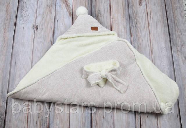 Велюровый зимний конверт-одеяло на махре