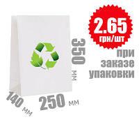 Белый крафт пакет 350х250х140 мм