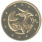 Монета Козерог 2 гривны  вес 1.24 грамм.