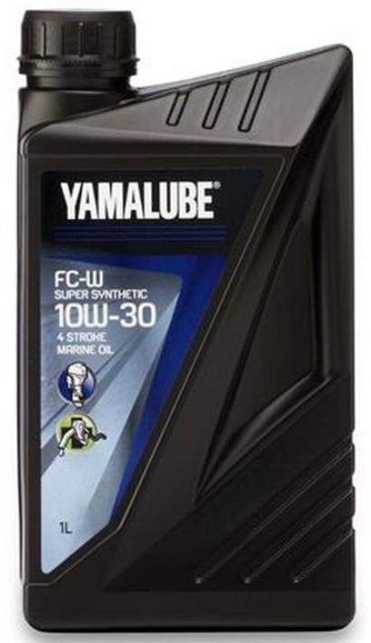Масло 10W30 1 литр для 4-х тактных лодочных моторов Yamalube Super-Synthetic FC-W 10W30