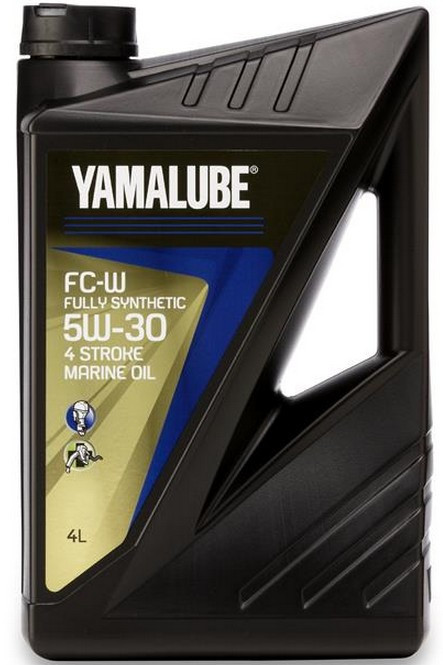 Масло для 4-х тактных лодочных моторов 4 литра 5W30 Yamalube Fully Synthetic FC-W