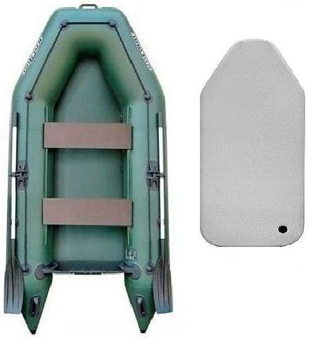 Надувная моторная лодка Колибри КМ-280 с надувным настилом