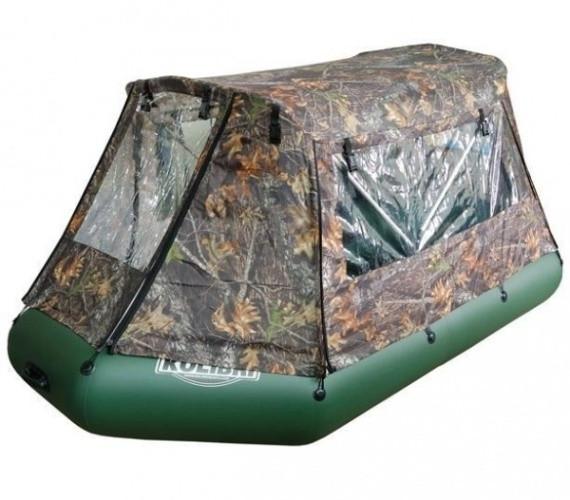 Тент палатка на моторную надувную ПВХ лодку Колибри 360 см