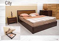 Кровать Сити с итарсией с подъемной рамой, фото 1