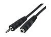 Аудио-кабель 3.5 jack/M/F (удлинитель) 3м CA-1112