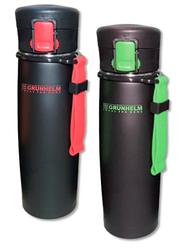 Термокружка GRUNHELM GTC501/502 черное покрытие(зелен/красная)