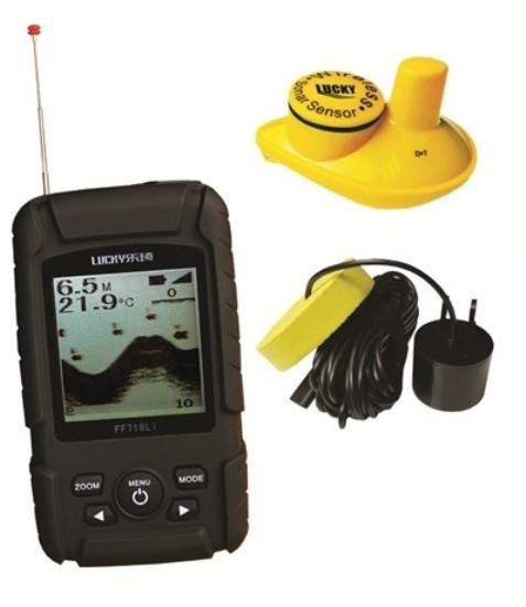 Эхолот для рыбалки Lucky FF718Li с двумя датчиками и аккумулятором