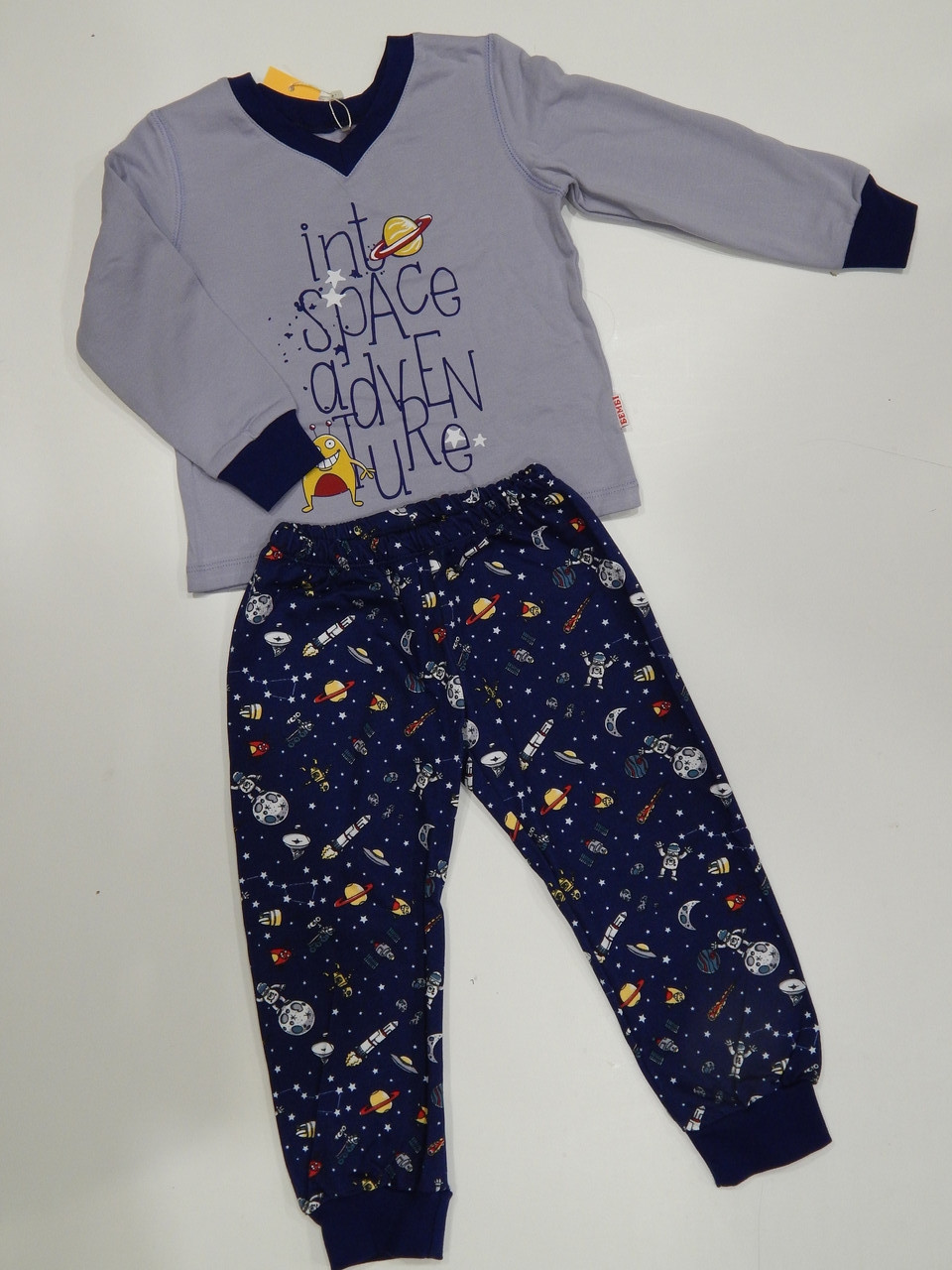 Пижама теплая для мальчика р.98 ТМ Бемби