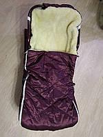 Конверт для санок меховой (бордовый)