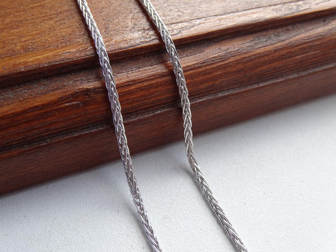 Стильная серебряная цепь КОЛОС