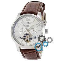 Наручные Механические часы Montblanc TimeWalker Tourbillon Brown-Silver (копия)