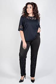 Женские брюки больших размеров Санти / размер 54,56,58,60,62,64 / цвет черный