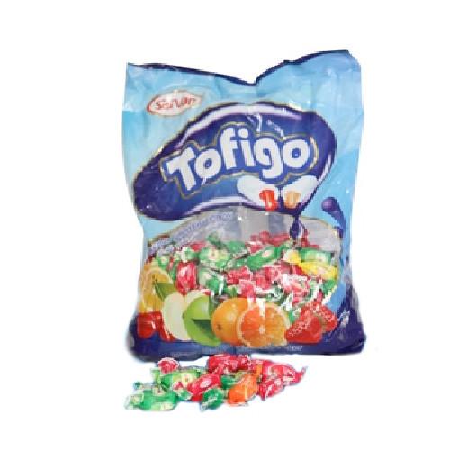 Тофиго Фруктовый (Sarvan) жевательные конфеты 1 кг пакет/8 в ящ