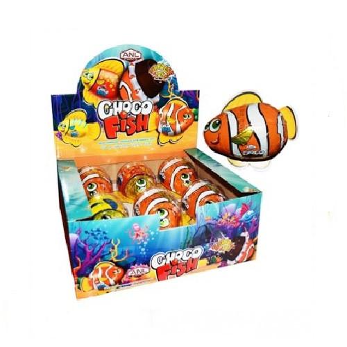 Рыбка шоколадная фигурка с сюрпризом (ANL) 55 г/12 шт/6 в ящ