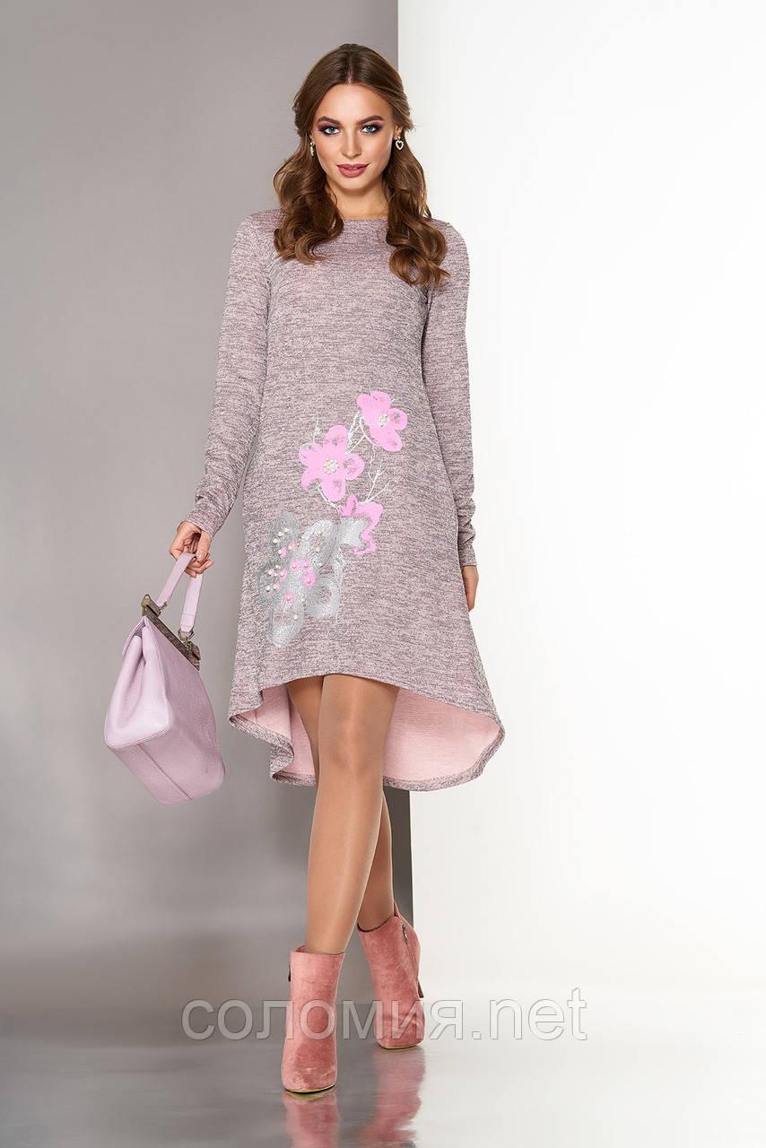 7b8f9a707cb Симпатичное Трикотажное платье с удлиненной спинкой 44-50р  продажа ...
