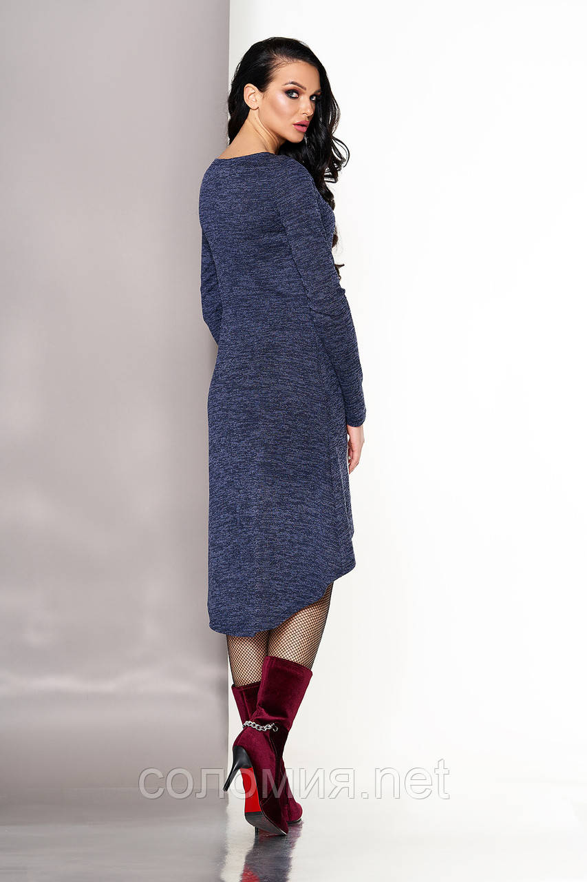 806ce38be98 Стильное Трикотажное платье с удлиненной спинкой 44-50р