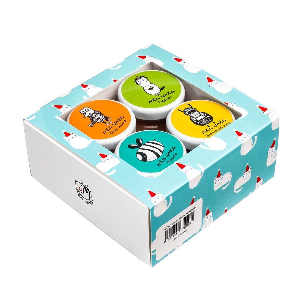 Подарочный набор из 4-х мини-баночек шмёда