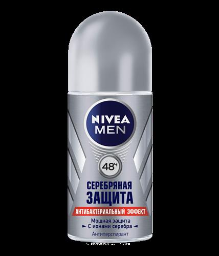 Дезодорант шариковый мужской Nivea Silver Серебряная защита